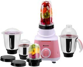 Anjalimix SMOOTHIE MAKER 600 W Mixer Grinder ( Pink , 5 Jars )