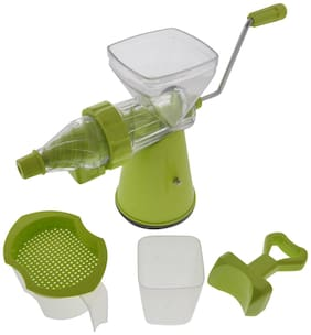 Ankur Plastic Fruit & Vegetable Juicer;4 Piece;Green