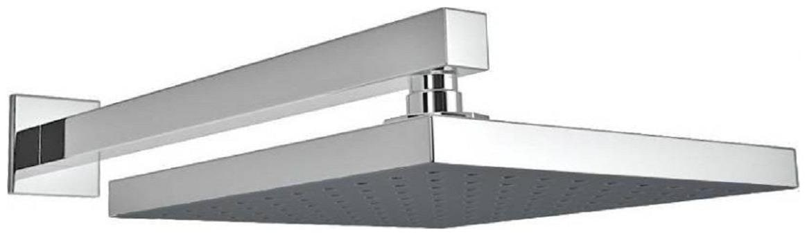 ANMEX 6x6 Square Rain Shower Head with 15inch Arm