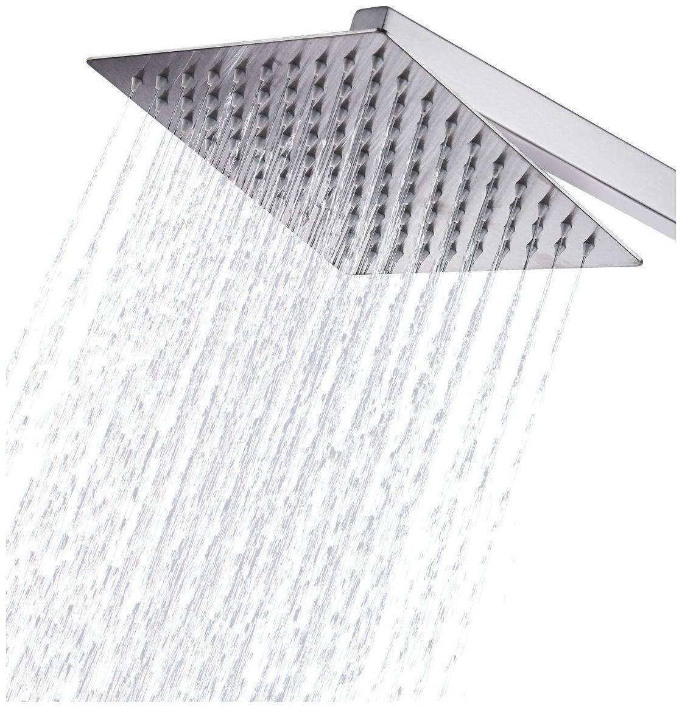 ANMEX 8x8 ULaSlim Square Rain Shower Head with 15inch Arm