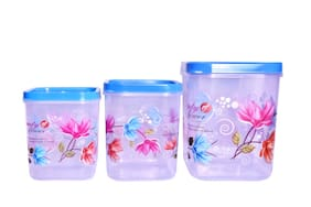 Antic Plastic Grocery Container Set of 3 ( 5000 ml , Blue )