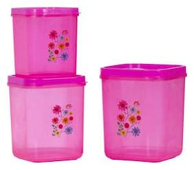Antic 8000 ml Pink Plastic Container Set - Set of 3