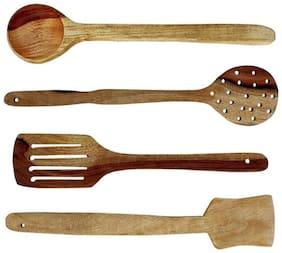 Antique Villa World Wooden Kitchen Spatula Set