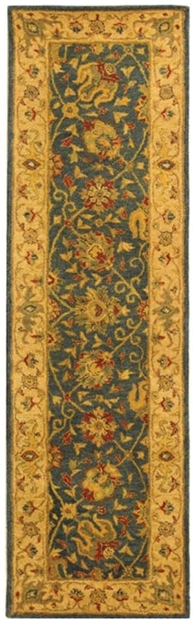 Antiquity Hand-Tufted BLUE Wool Rug 2' 3 x 12' Runner