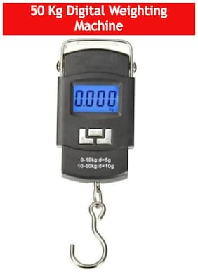 APNA KANHA 50kg Portable Luggage Hanging Weight Machine Digital Weighing Scale