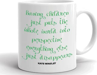Aqsi Ceramic Coffee Mug Having Children Just Puts The Whole World Into Perspective Everything Else Disears