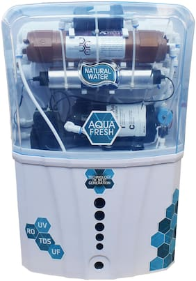 Aqua Fresh COPPER model 12 L RO + UV + UF + TDS+COPPER FILTER  purify Mineral Water Purifier