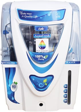 Aqua Fresh EPIC Model 12 L RO + UV + UF + TDS+ALKALINE Filter  Purify Mineral Water Purifier