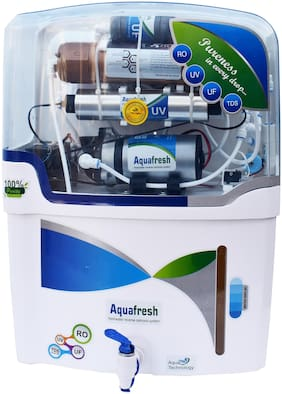 Aqua Fresh NYC COPPER model 12 L RO + UV + UF + TDS+COPPER FILTER  purify Mineral Water Purifier