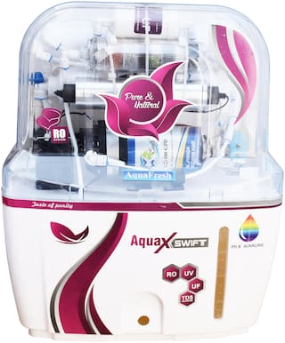 Aqua Fresh Red SWIFT Model 12 L RO + UV + UF + TDS+ALKALINE Filter  Purify Mineral Water Purifier