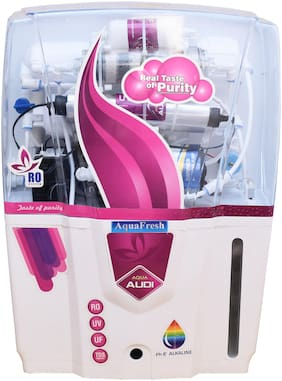Aqua Fresh Red Audi Model 12 L RO + UV + UF + TDS+ALKALINE Filter  Purify Mineral Water Purifier