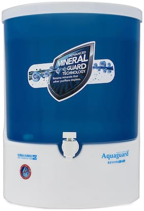Aquaguard Reviva RO+UV Water Purifier (White & Blue)