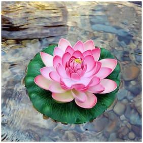 Aquarium Fish Tank,Plant Indoor Artificial Floating Lotus  Flower Decor Ornament (Multicolor)