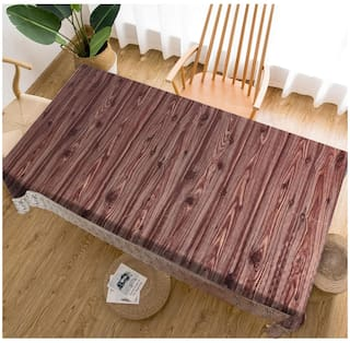 Aradenttm High Quality PVC Brown Dining Table Cover -Pack Of 1