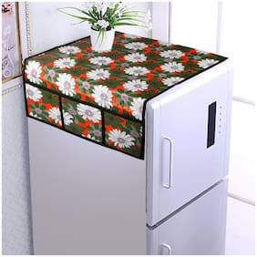 Aradent Water & Dust Proof Fridge Top Cover with 6 Utility Pockets and Longer Size