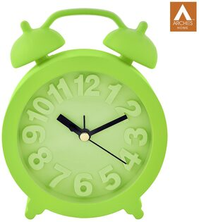 Archies Green Table Clock