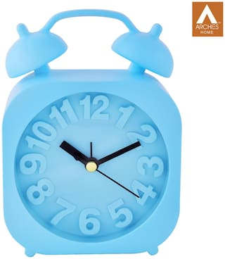 Archies Blue Table clock