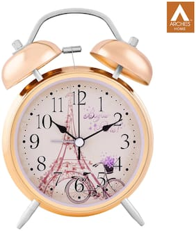 Archies Metal Analog Table clock ( Set of 1 )