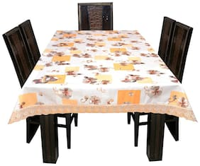 Ardour Homes PVC High Grade Dining Table Cover 6 Seater (L: 198.12 cm (78 Inch);W:137.16 cm (54 Inch))