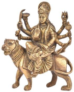 Arisers Brass Durga Mata Idol,Durga Murti,Goddess Durga Idol