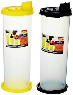 Aristo 1 L Plastic Oil & Vinegar Dispensers - Set of 2