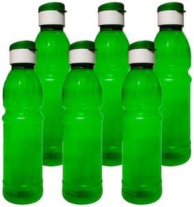 ARNAH TREASURE Plastic Green Water Bottle ( 1000 ml , Set of 6 )