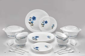 Arni Plastic Exclusive and Microwave Safe,Plastic Floral Round Dinner Set of 38