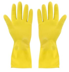 Arsa Medicare Waterproof Cleaning Household Gloves for Kitchen, Dish Washing, Laundry, Perfect For Garden and Household Tasks, Lightweight and Durable,Size: Medium, COLOR: Yellow, ONE Pair