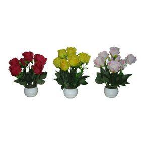 LOXIAA Fabric Multi Artificial Flower ( 3 )