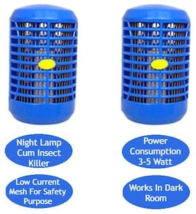 Aryshaa  Night Light Lamp cum Electronic Insect & Mosquito Killer (MK-ROUND-Pack of 2)
