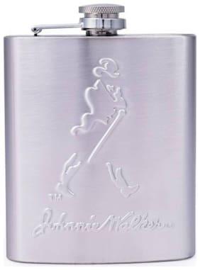 Aryshaa Johnnie Walker Embossed Wine Holder / Whiskey Holder / Liquor Holder Stainless Steel Hip Flask (Size - 8OZ, 236ml)