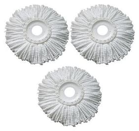 Aryshaa Mop Head Microfiber Replacement Head Refill for Rotating Spin Mop Cleaner (Pack of 3)