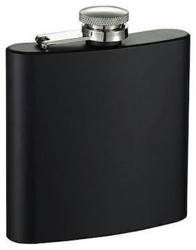 Aryshaa Stainless Steel Hip Flask, Matte Black Wine Holder Whiskey Holder Liquor Holder Imported Hip Flask Matte Black (Pack of 1)