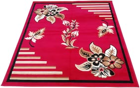AS Handloom Brand New latest double sided Flower pattern with .5 inch pile height 5*7 feet size (actual size 150*200 cms) carpet for living room