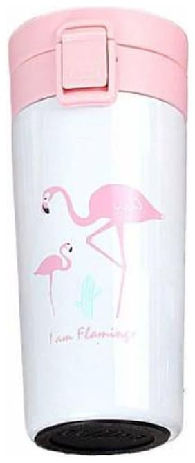 Ashni Pink Thermosteel flask ( 300 ml , Set of 1 )