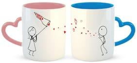 Ashvah Catch My Love Too Couple Coffee Mug - Best Gift For Wife,Husband,Girlfriend,Boyfriend,Anniversary,Birthday,Valentines Day