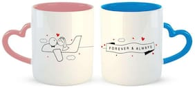 Ashvah Flying With Love Couple Coffee Mug - Best Gift For Wife,Husband,Girlfriend,Boyfriend,Anniversary,Birthday,Valentines Day