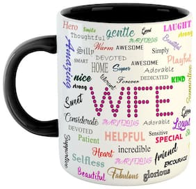 Ashvah Gifts For Wife For Birthday Anniversary Gifts Love Gifts For Valentine Ceramic Coffee Mug Black & White Color