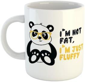 Ashvah I'm Not Fat I'm Just Fluffy Panda Printed Ceramic Coffee Mug