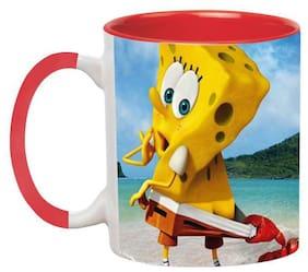 Ashvah Spongebob Coffee Mug - Birthday Gift for Kids by Ashvah-Mug-1931-Red