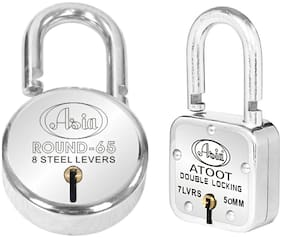 Asia ATOOT 50 and Round 65,Hardened Shackle,Double Locking,Lever Technology  (ATOOT 50 & ROUNS 65)