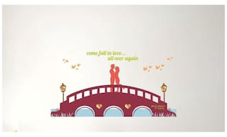 Nilaya by Asian Paints Printed Wall sticker ( Set of 1 )