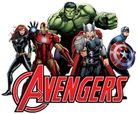 Asian Paints Wall Ons Original Avengers Assemble Decal,DIY Removable Peel and Stick Wall Sticker