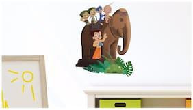 Asian Paints Wall Ons Chhota Bheem Elephant ride (PVC Vinyl;33.02 cm x 45.72 cm)