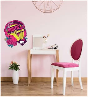 Asian Paints Wall Ons Original MTV 'XL' - 'Poutie Queen' Removable Wall Sticker