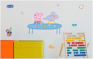 Asian Paints Wall Ons Original Peppa Pig 'L' - 'Learning Blocks' Removable Wall Sticker
