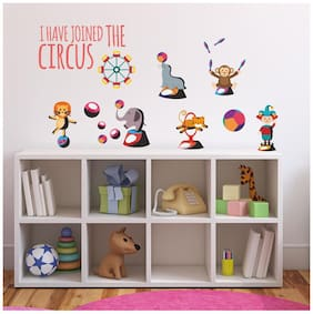 Asian Paints Wall Ons Circus Fun Wall Sticker (PVC Vinyl;30.48cm x 76.20 cm;Multicolour)