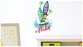Asian Paints Wall Ons Chhota Bheem Surfing (PVC Vinyl;30.48 cm x 50.80 cm)