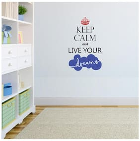 Asian Paints Wall Ons Keep Calm Dreams Wall Sticker (PVC Vinyl;76.20cm x 30.48 cm;Multicolour)