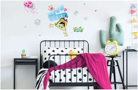 Asian Paints Wall Ons Original Spongebob 'L' - 'Dive Deep and Explore' Removable Wall Sticker